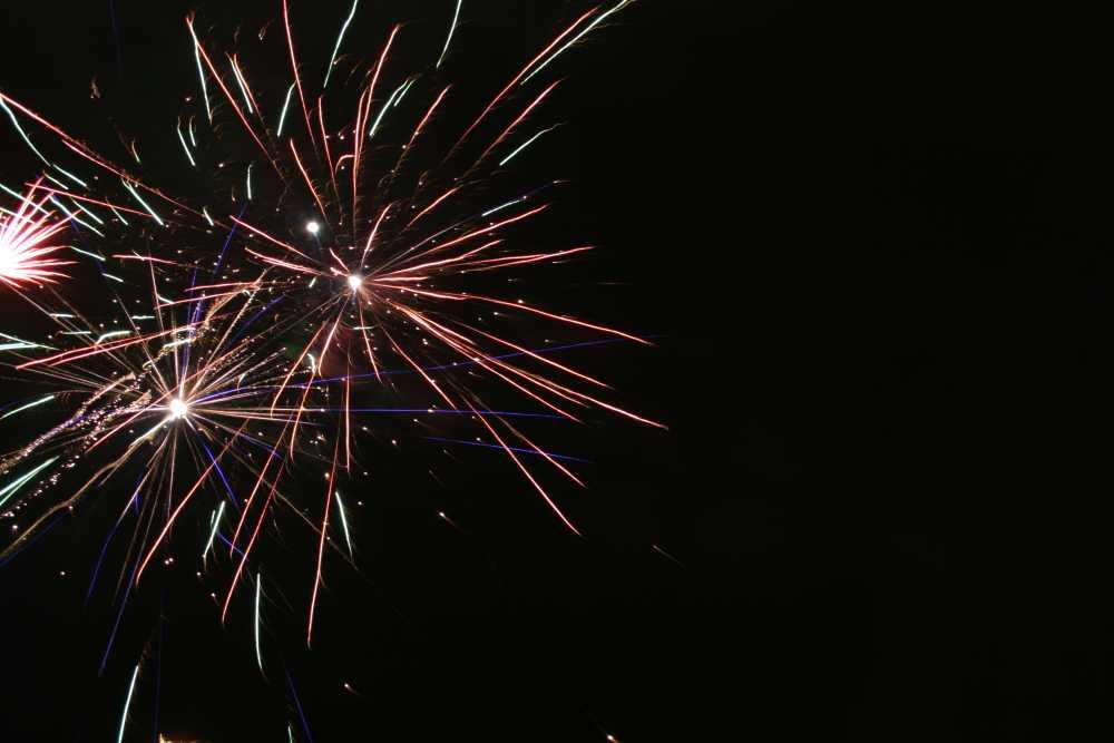 Verspätetes Feuerwerk...