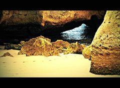 versteckte kleine Strandbucht