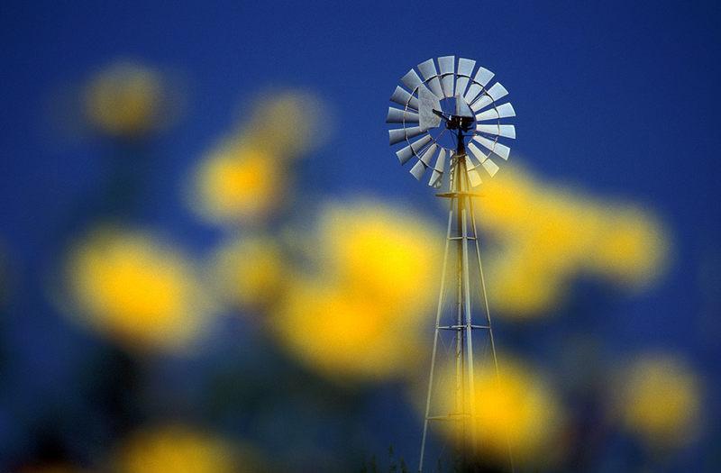 Versteckte Windmühle auf Zypern
