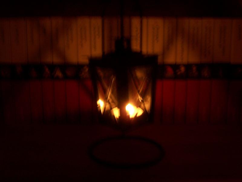Versuch - Kerze im Dunkeln
