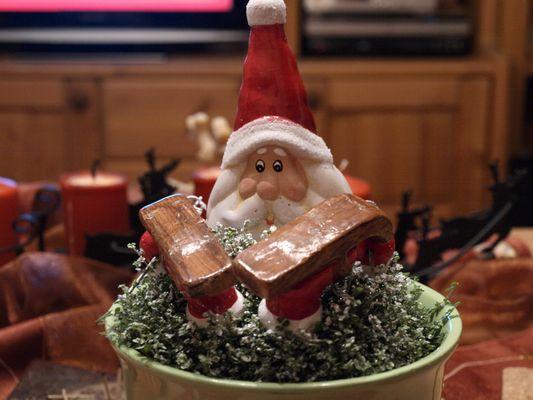 Versumpfter Weihnachtsmann