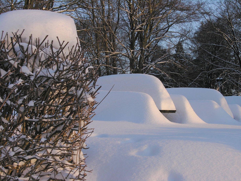 Versunken im Schnee.