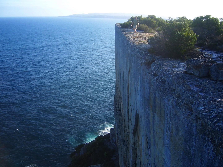 Vertical cliff near Jervis Bay