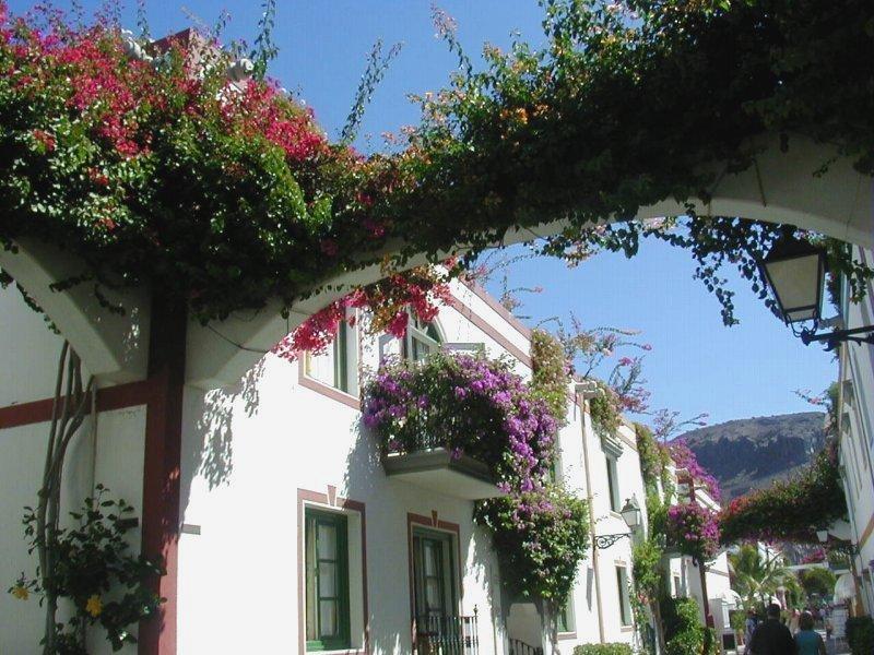 Verträumte Gasse in Mogan auf Gran Canaria
