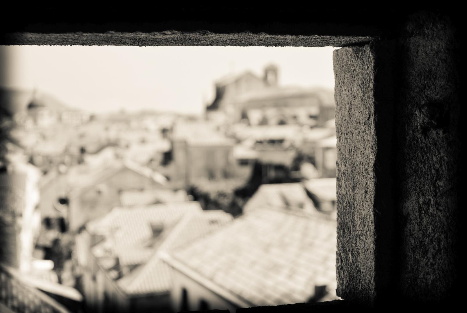 Verträumter Blick auf die Stadt
