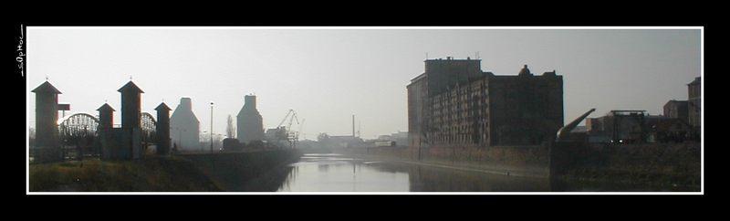 Verträumter Magdeburger Hafen