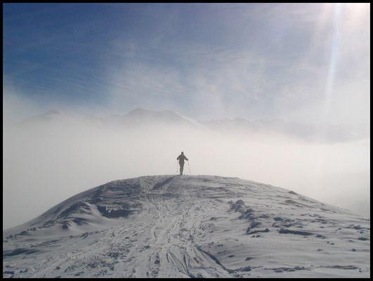 verträumter Skifahrer