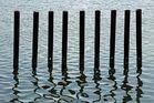 Verwässerte Spiegelung der 9 Weisen