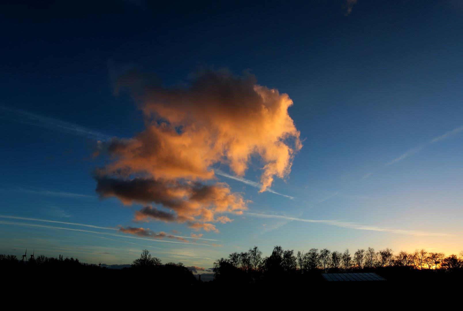 verwandelte Wolken