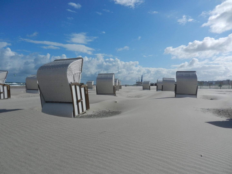 Verwehungen am Warnemünder Strand