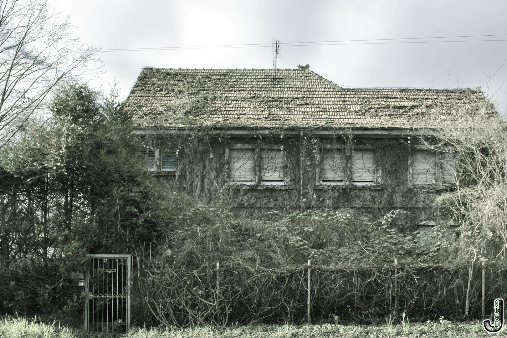 Verwildertes Haus