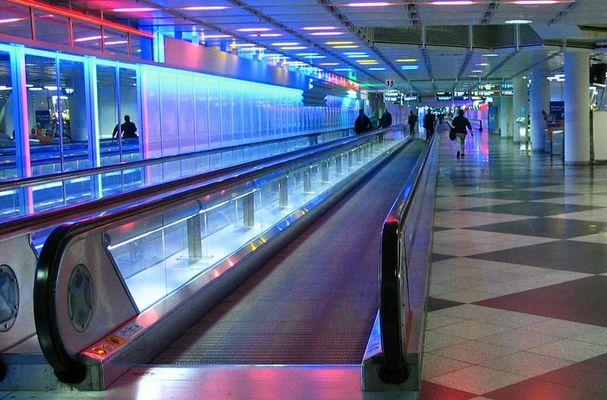 Verwirrende Gänge Flughafen München