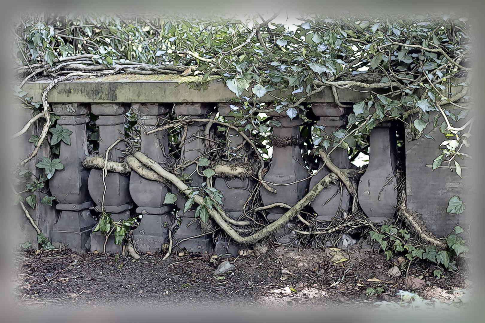 Verwunschene Mauer im Saarbrücker Schlossgarten