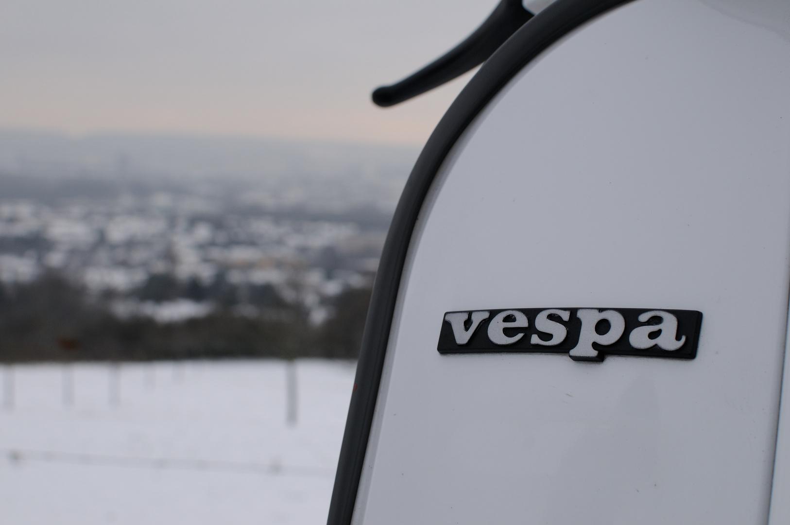 Vespa über Aachen