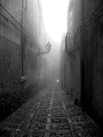 Vespino nella nebbia
