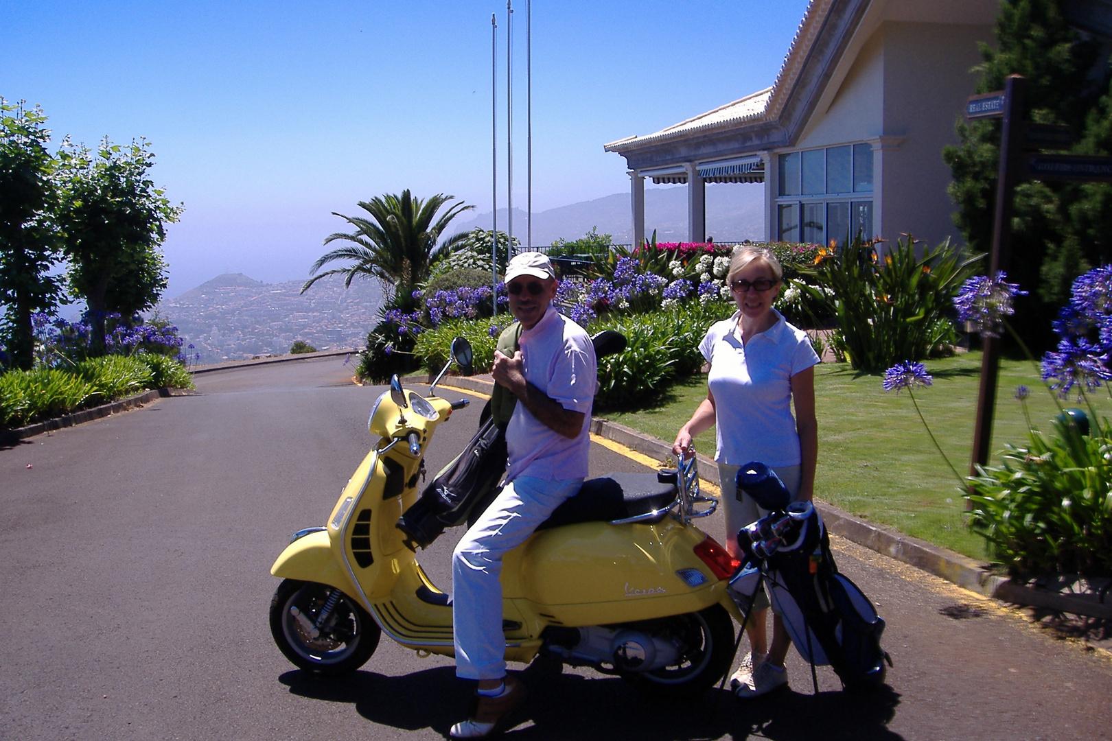 vespisti & golfisti auf der Insel Madeira