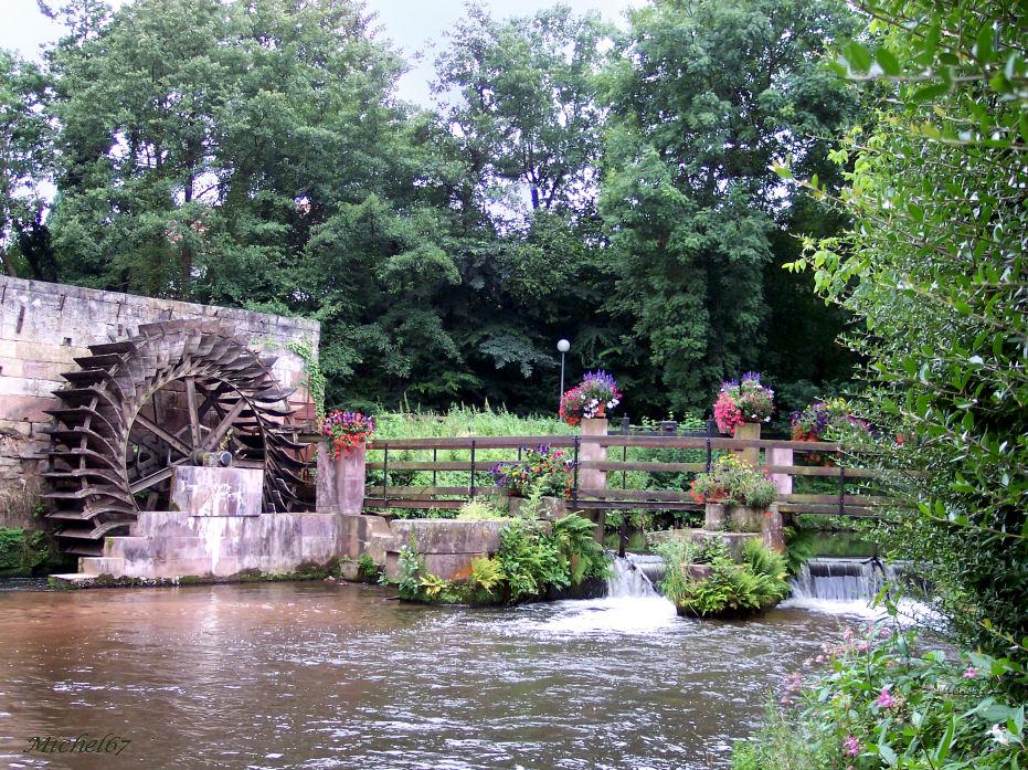 Vestige d'un moulin à eau
