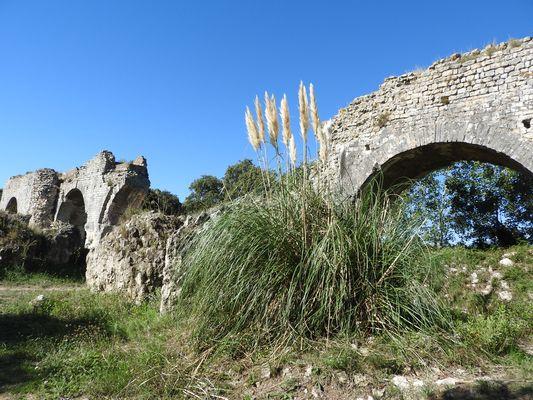 vestiges romains aqueduc, près des baux de provence
