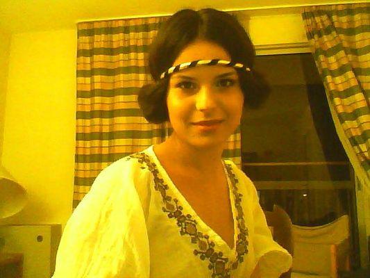 vestita da ragazza romana