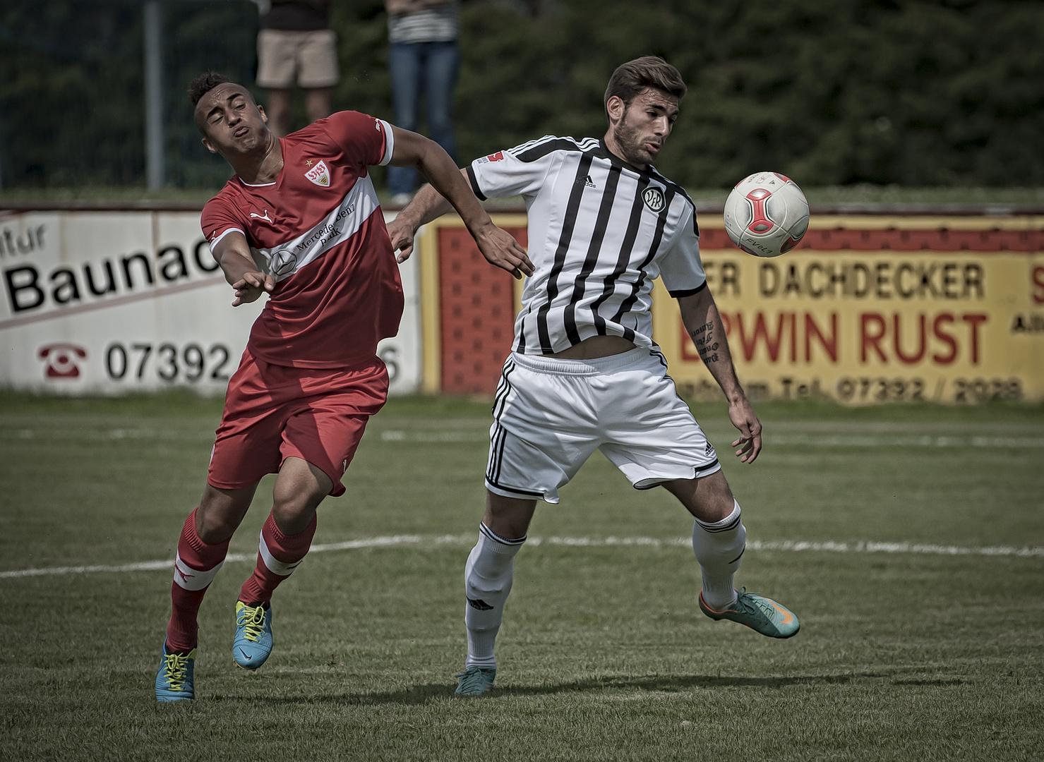 VfR Aalen - VfB Stuttgart II in Laupheim: 2:0