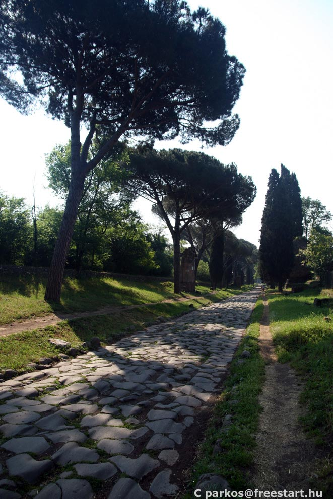 Via Appia at morning