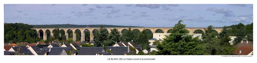 Viaduc du Blanc (36) en panoramic