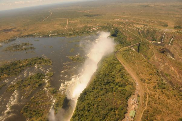 Vicfalls aus dem Helicopter