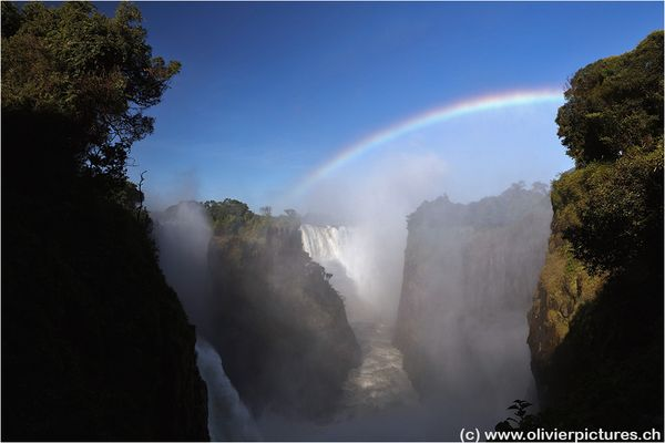 Victoria Falls in the afternoon sun