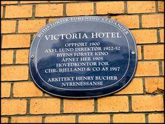 Victoria Hotel wall.