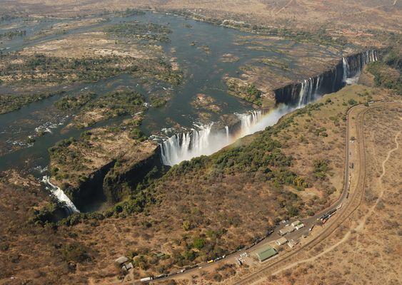 Victoria-Wasserfälle in Simbabwe