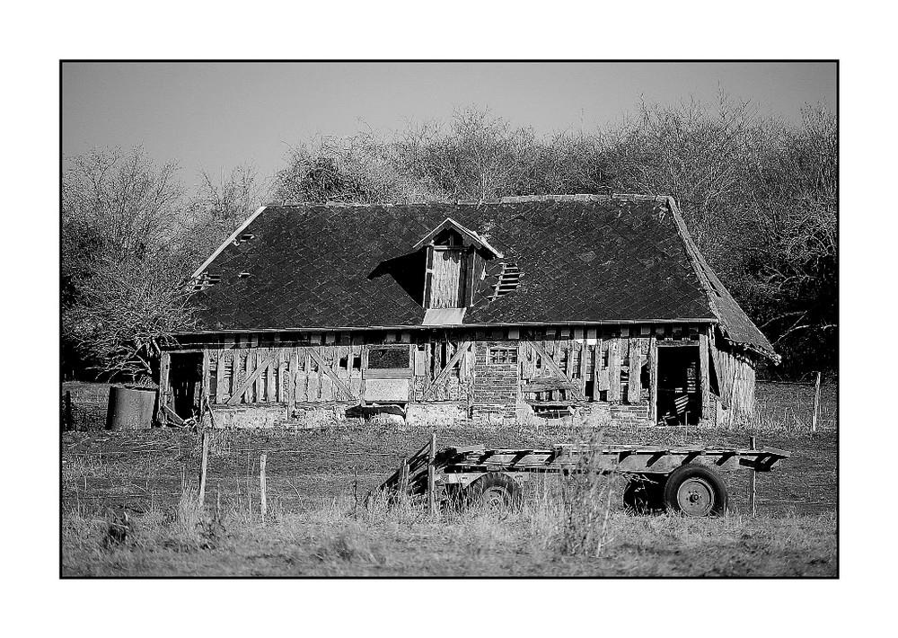 Vieille grange en Pays d'Auge