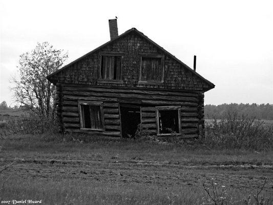 Vieille maison abandonnée au Québec