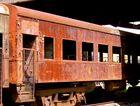 Viejo vagón oxidado