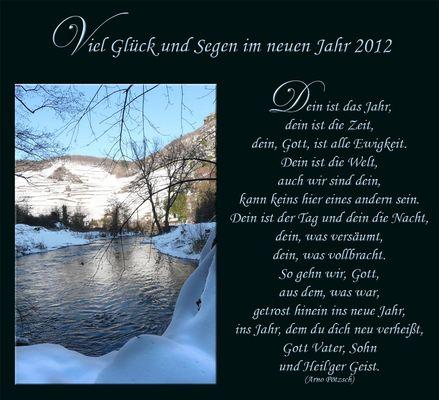Viel Glück und Segen im neuen Jahr 2012