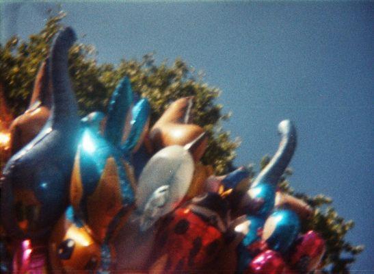 Viele schöne bunte Luftballons