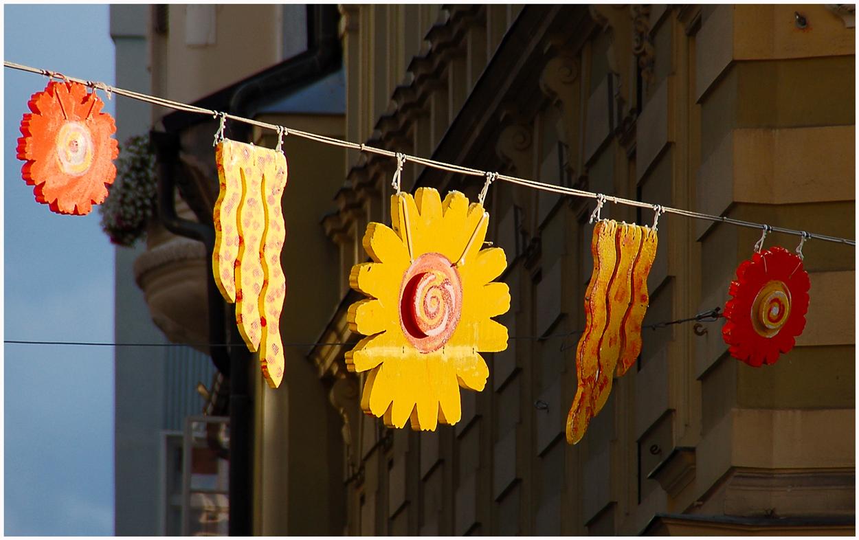 Viele Sonnen in Klagenfurt