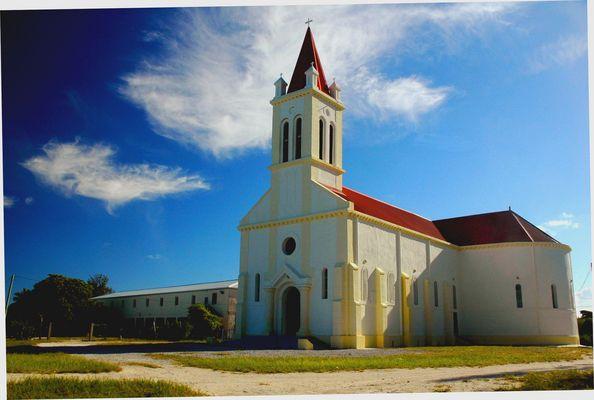 Vielle église sur un atoll