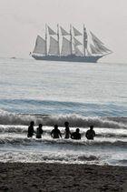 Viendo pasar los veleros