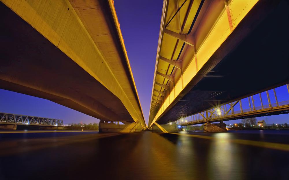 Vier Brücken...