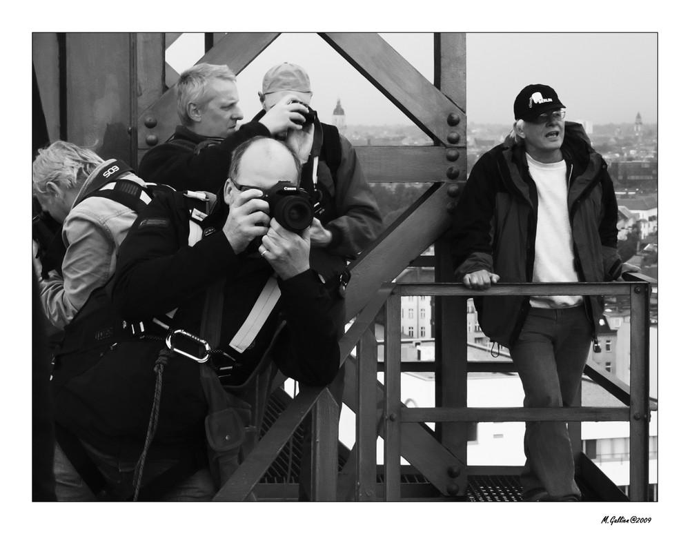 Vier Fotografen und ein Guide....