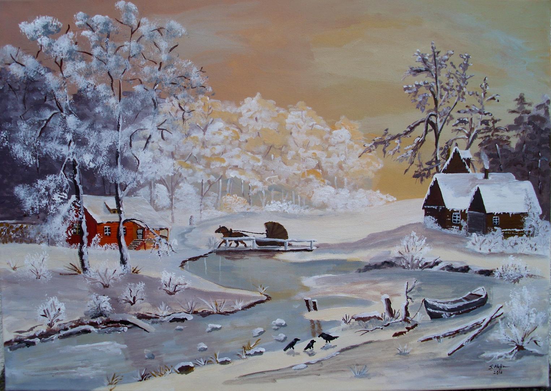 vier jahreszeiten winter foto bild landschaft bach fluss see natur bilder auf. Black Bedroom Furniture Sets. Home Design Ideas