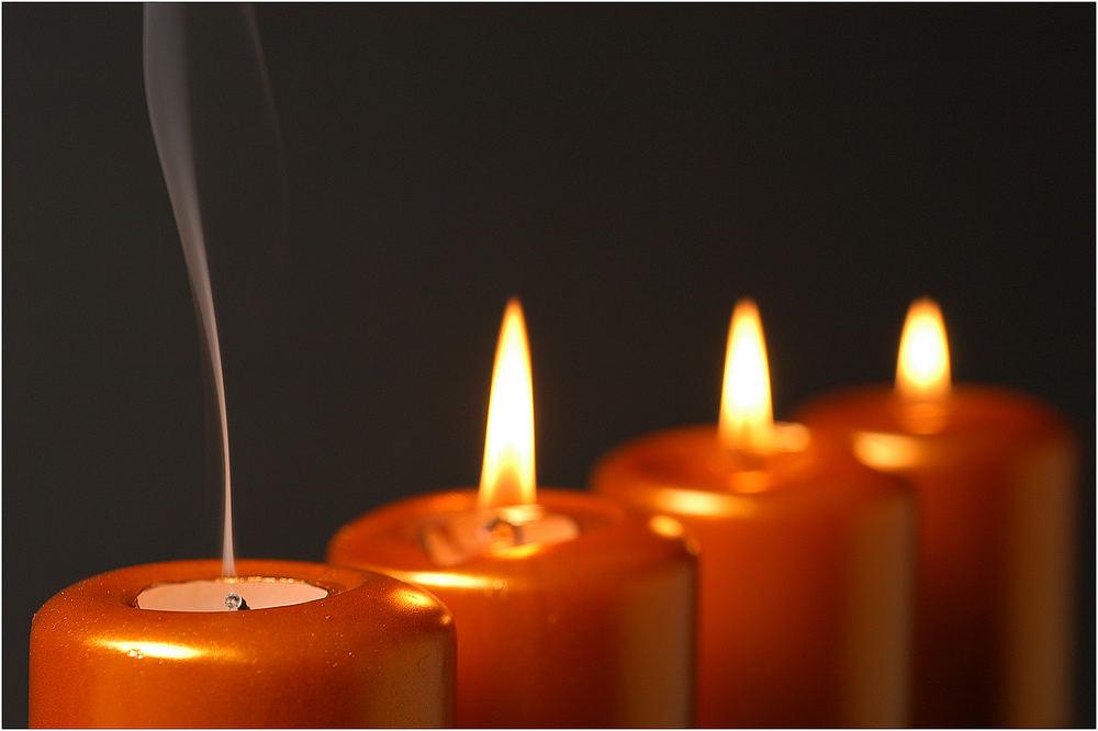 "Vier Kerzen 2/6 ""Frieden"""