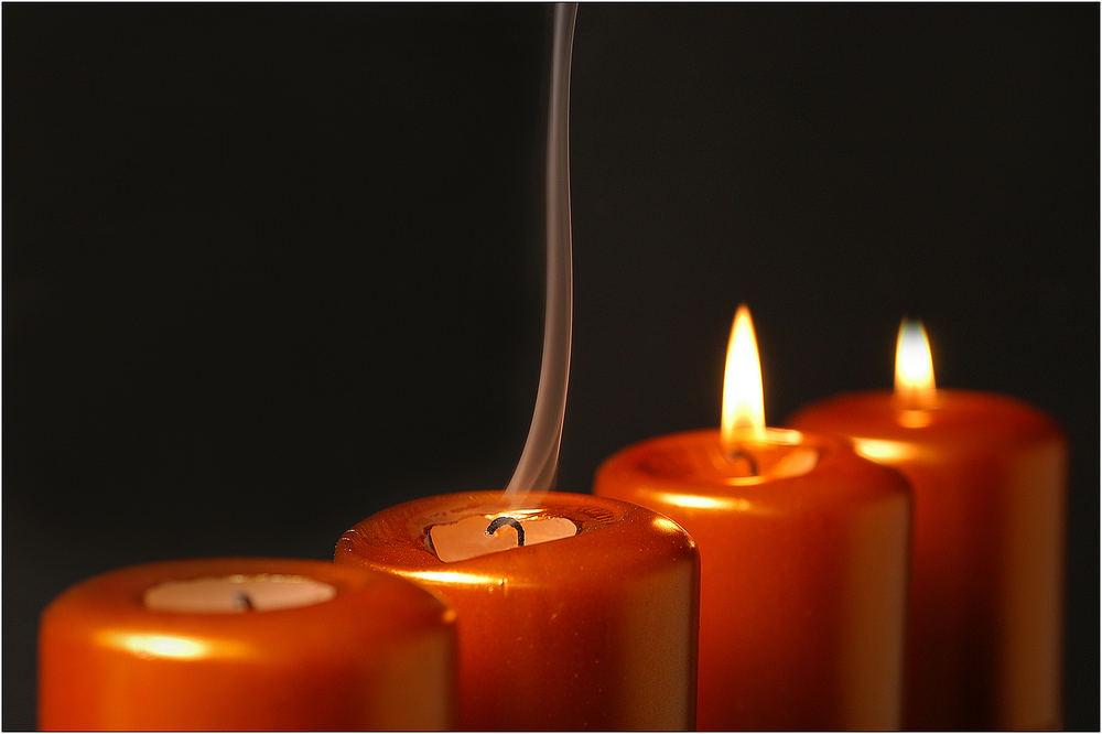 """Vier Kerzen 3/6 """"Vertrauen"""""""