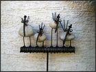 Vier ulkige Vögel...