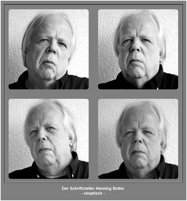 Vier von 14 Porträtaufnahmen für den Umschlag eines neuen Buches