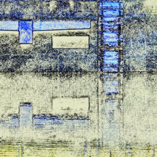 Vierecke in Blau