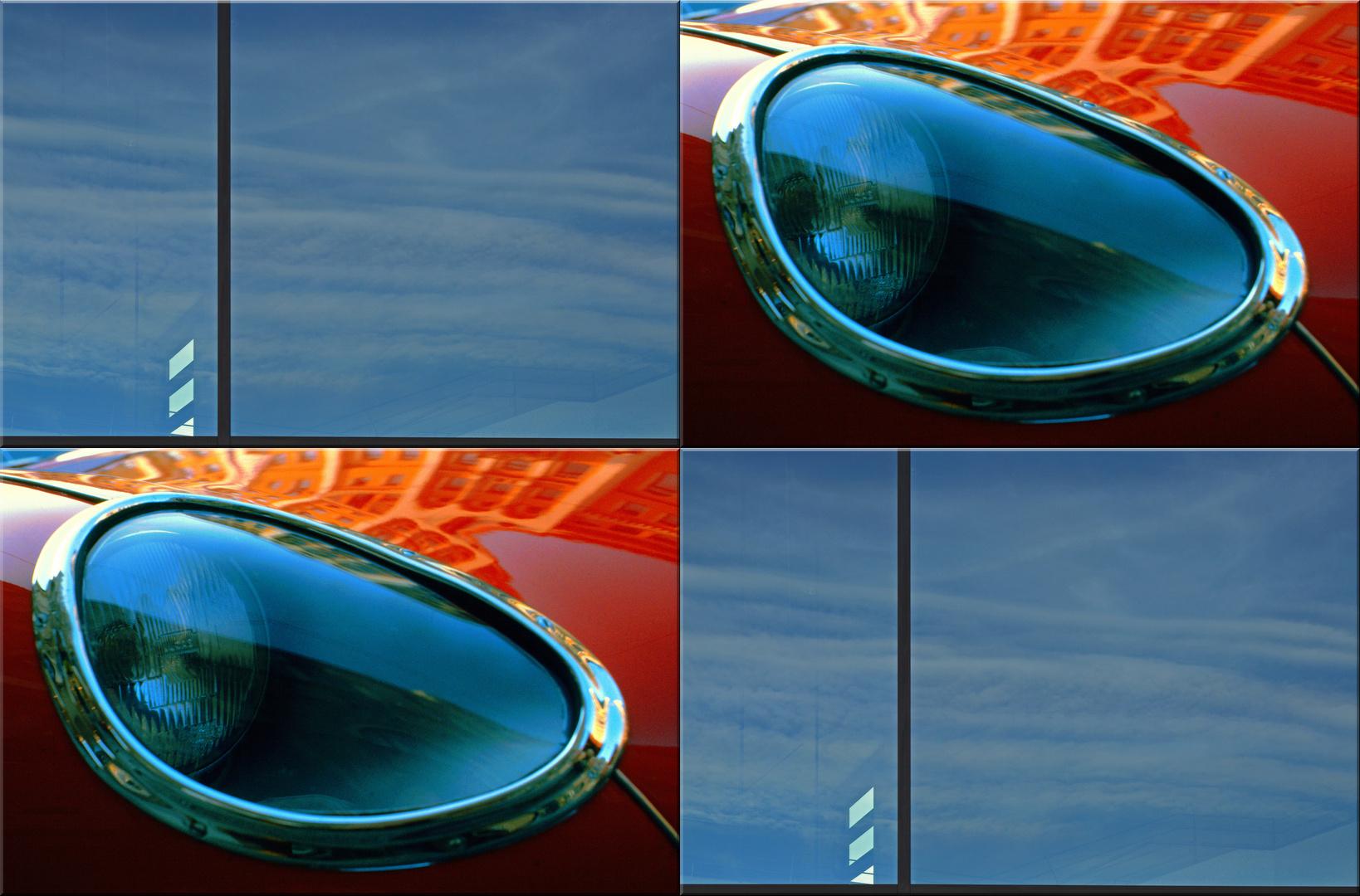 """Viererbild """"Himmelblau im Glas"""""""