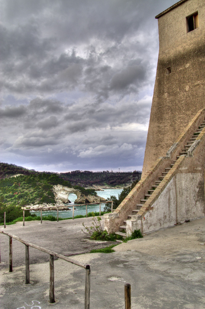 Vieste (FG): l'Architiello e la Torre