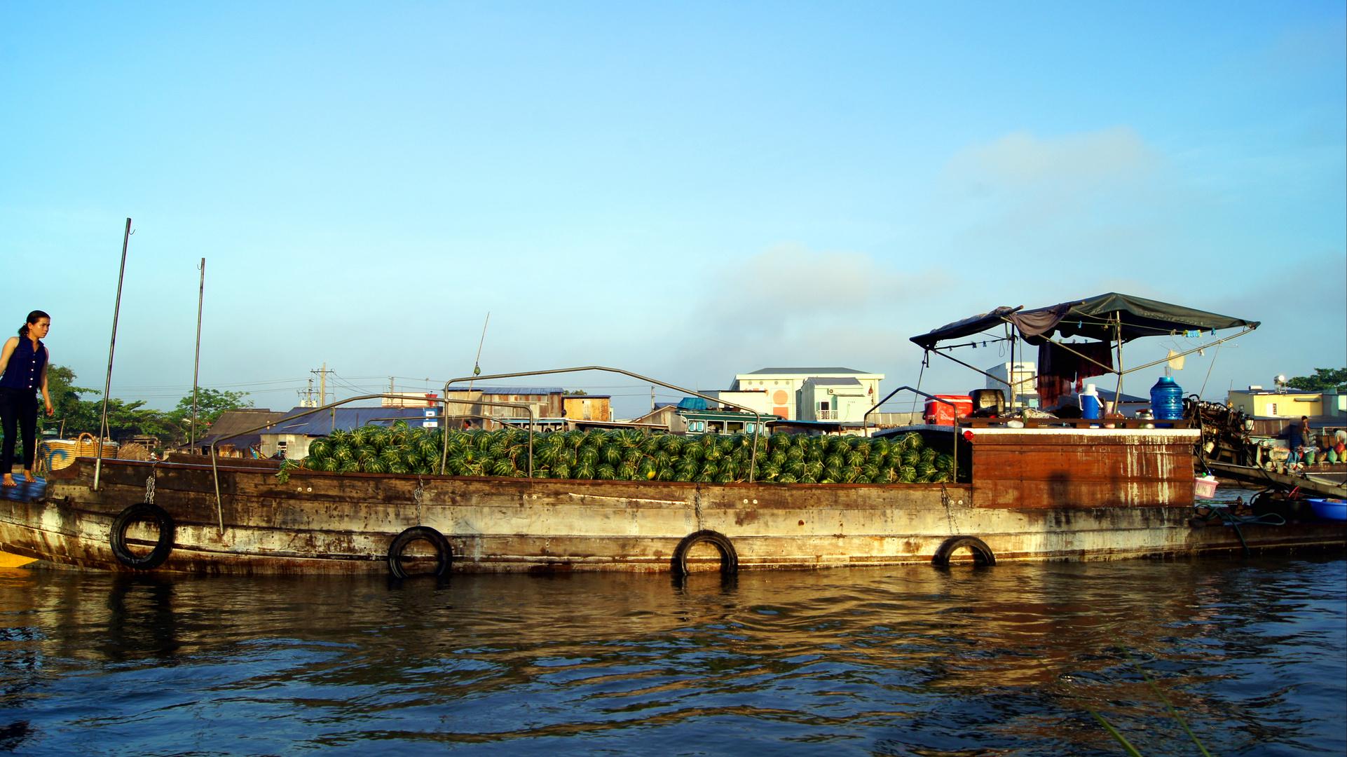 Vietnamesischer Melonentransporter