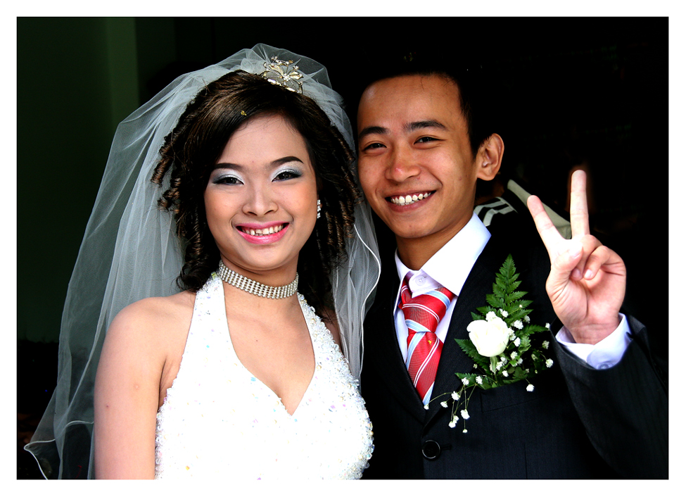 vietnamesisches Brautpaar